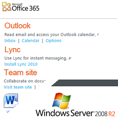 Office365 and Windows Server 2008R2